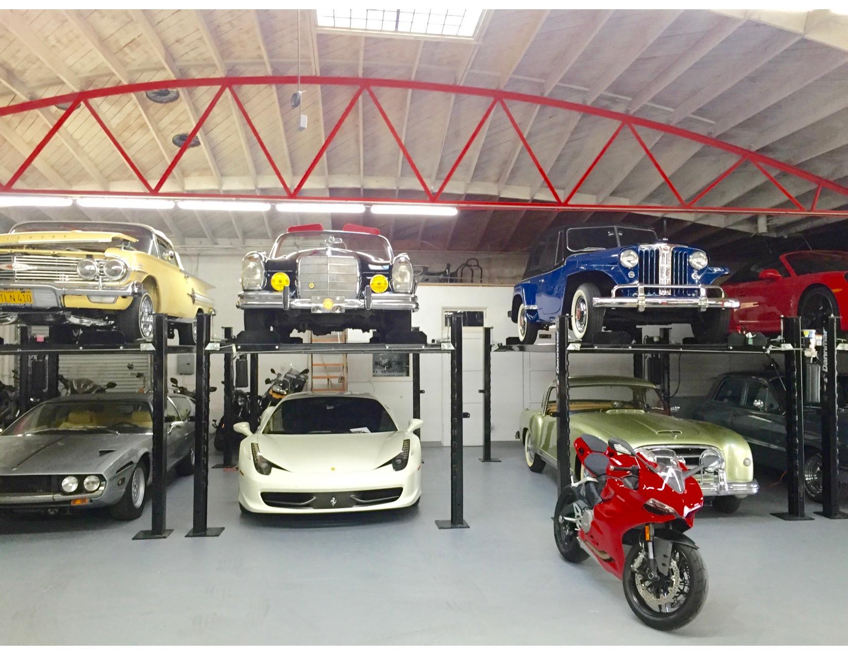 Motorized garage storage lift for garage also garage for Garage elevator lift