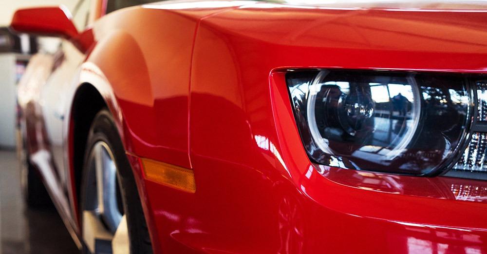 Veloce Vault Red Car Closeup