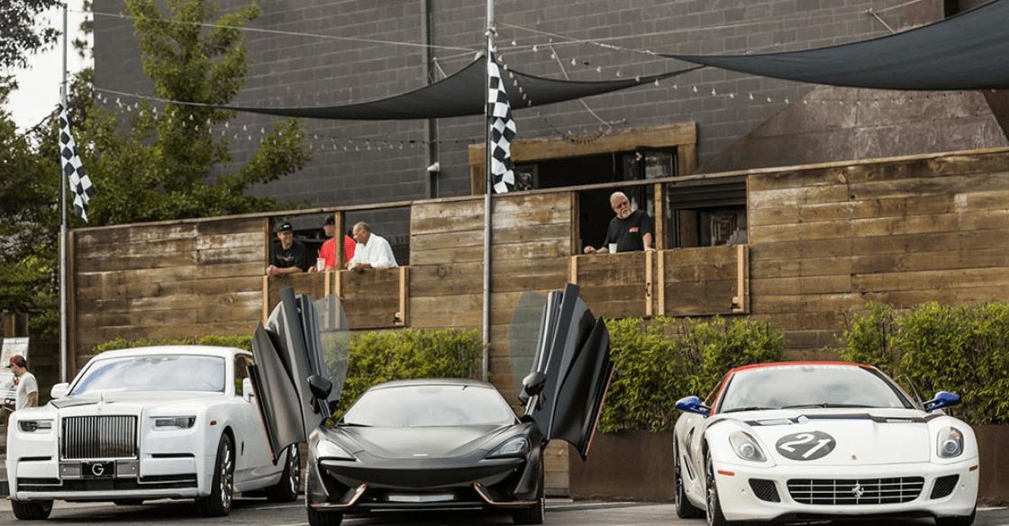 A car club meet up at The Vault's event venue