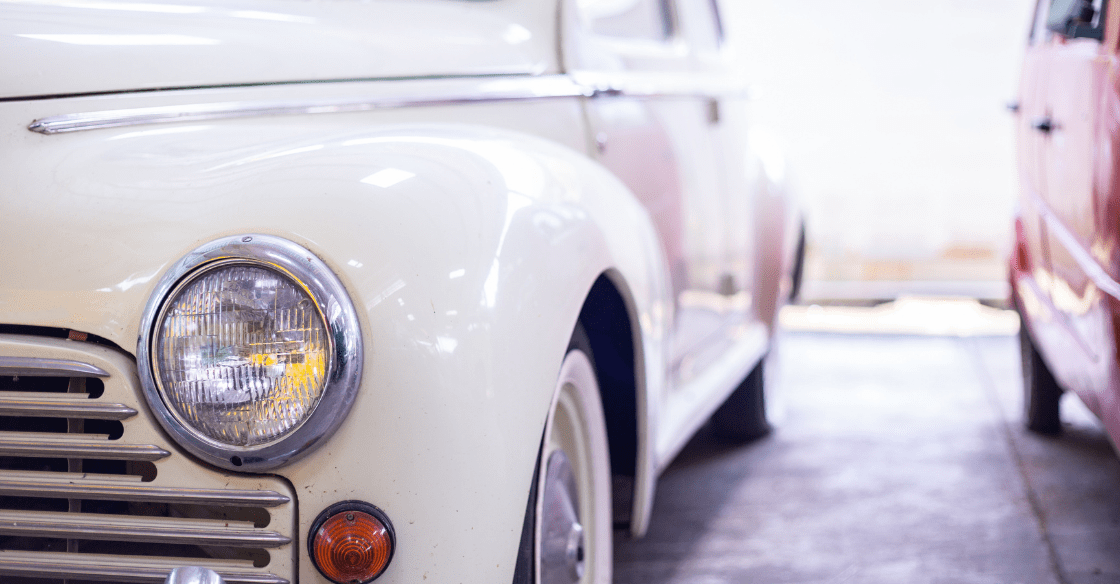 Classic car front view